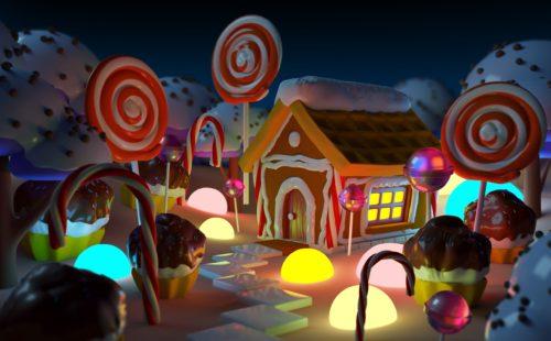 香り演出事例:お菓子の家